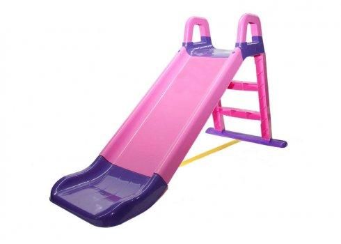 Детская горка для катания 140 см Фламинго 0140/05 розовый с фиолетовым