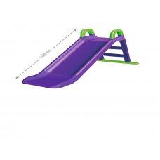 Детская горка для катания 140 см Фламинго 0140/10 фиолетовый с зеленым
