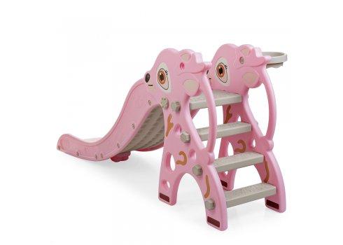 Детская горка пластиковая Олененок Bambi WM19021-8 розовый