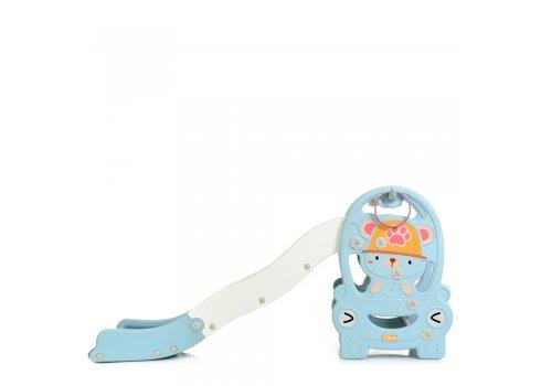Детская пластиковая горка Медвежонок BAMBI WM19094-4 голубой
