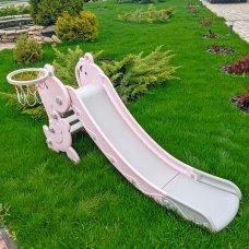 Детская пластиковая горка BAMBI YG2020-2-1-8 розовая