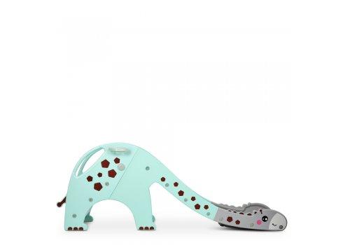 Детская пластиковая горка для катания Жираф Bambi GIRAFE-5 мятный