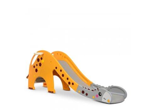 Детская пластиковая горка для катания Жираф Bambi GIRAFE-6 желто-серый