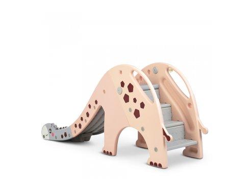 Детская пластиковая горка для катания Жираф Bambi GIRAFE-8 персиковый