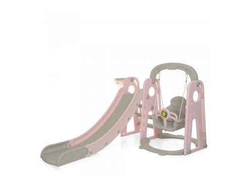Детская горка-качель 2в1 Bambi YG2020-1-8 розовый