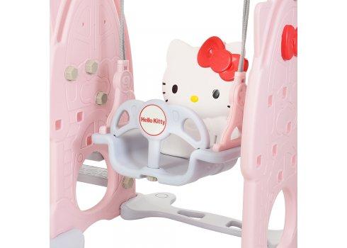 Детский игровой комплекс 2в1 горка-качель Hello Kitty Bambi HK5018-2A