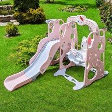 Детский игровой комплекс 2в1 горка-качель Hello Kitty Bambi HK5018-2B розовый