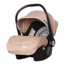 Детское автокресло для новорожденных (автолюлька) группа 0+ (0-13 кг) Tilly Sparky T-511/1 Beige