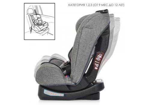 Детское автокресло группа 0+1/2/3 (0-36 кг) El Camino Step ME 1017-11 серый