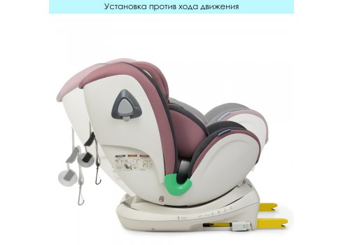 Автокресло детское EL CAMINO I-TRUST Isofix 0-36кг ME 1081 Pale Pink розовый