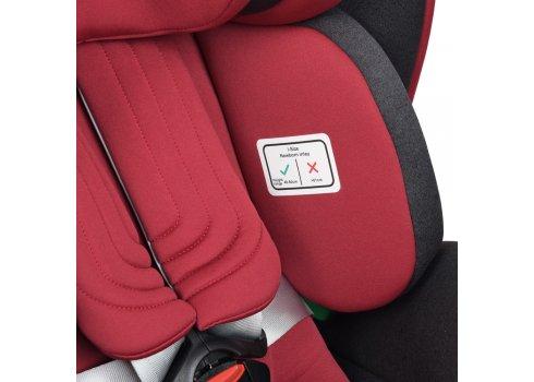 Автокресло детское EL CAMINO I-TRUST Isofix 0-36кг ME 1081 Red красный