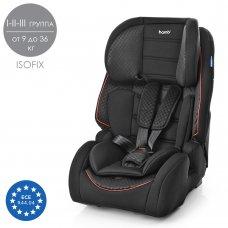 Автокресло для детей возрастом 1-12 лет с системой ISOFIX, группа 1/2/3 (9-36кг), Bambi M 2783-3 черный