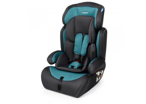 Автокресло-бустер 2 в 1 для детей от 1 года до 12 лет Bambi M 3546 Emerald Gray серо-изумрудный