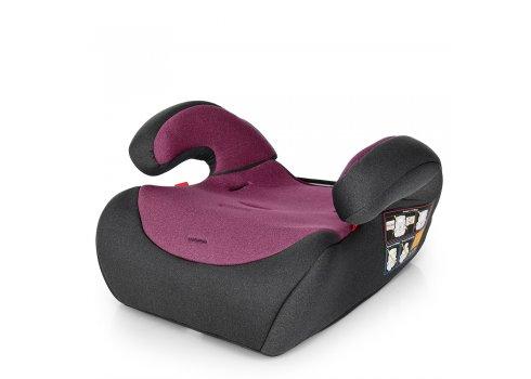 Автокресло-бустер 2 в 1 для детей от 1 года до 12 лет Bambi M 3546 Pink Gray серо-розовый