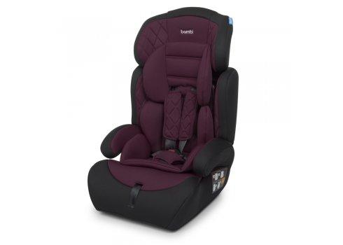 Автокресло-бустер 2 в 1 для детей от 1 года до 12 лет Bambi M 3546 Purple фиолетовое