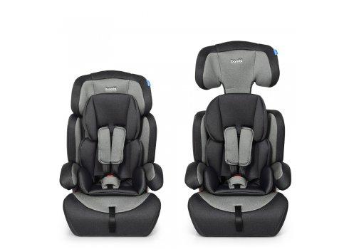 Автокресло-бустер 2 в 1 для детей от 1 года до 12 лет Bambi M 3546 Silver Gray серый