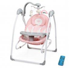 Детский укачивающий центр (напольные качели) для новорожденных EL CAMINO SENSA ME 1028 Flowers Pink