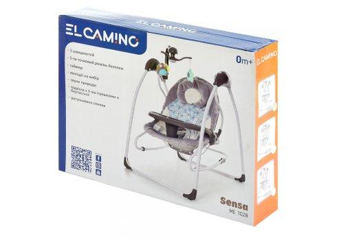 Детский укачивающий центр (напольные качели) для новорожденных EL CAMINO SENSA ME 1028 Circles Mint