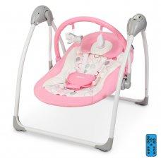 Детский укачивающий центр (напольные качели) для новорожденных El Camino Airy ME 1047 Flower Pink розовый
