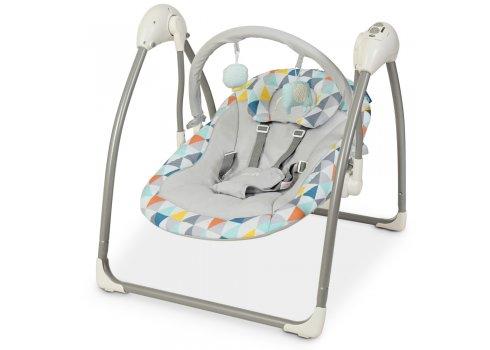 Детский укачивающий центр (напольные качели) для новорожденных El Camino Airy ME 1047 Triangle Multicol серый