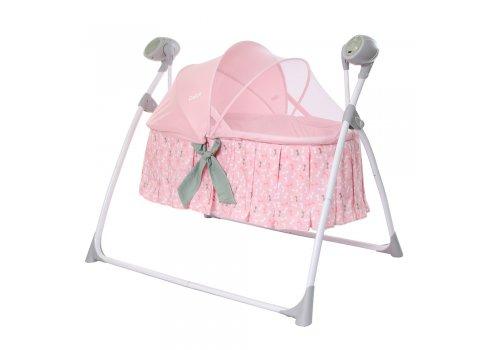 Люлька-кроватка и укачивающий центр 2 в 1 Carrello Dolce CRL-7501 Bow Pink розовый