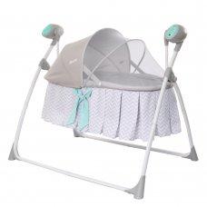 Люлька-кроватка и укачивающий центр 2 в 1 Carrello Dolce CRL-7501 Line Grey серый