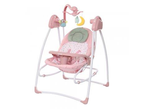 Кресло-качалка (укачивающий центр) CARRELLO Grazia CRL-7502 Bow Pink розовый