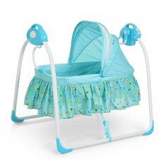 Люлька-кроватка и укачивающий центр 2 в 1 80308-4 синий
