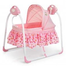 Люлька-кроватка и укачивающий центр 2 в 1 80308-8 розовый
