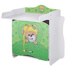 Комод-пеленальный столик Vivast 2в1, MV-910-14 Мишка зеленый