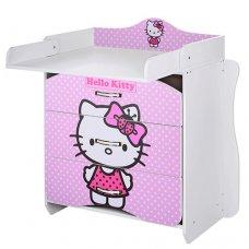 Комод-пеленальный столик Vivast 2в1, MV-910-16 Hello Kitty розовый