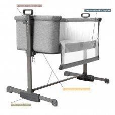 Приставная кроватка CARRELLO Luna CRL-8404 Neutral Grey серый