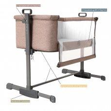 Приставная кроватка CARRELLO Luna CRL-8404 Sand Beige бежевый