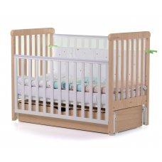 Кровать детская CARRELLO Alba Бело-Буковая + короб маятникового механизма
