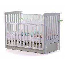Кровать детская CARRELLO Alba Бело-Серая + короб маятникового механизма