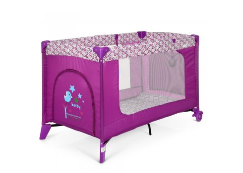 Детский манеж El Camino Safe ME 1016 Purple Flowers пурпурный