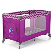 Детский манеж El Camino Safe ME 1016 Purple Zigzag