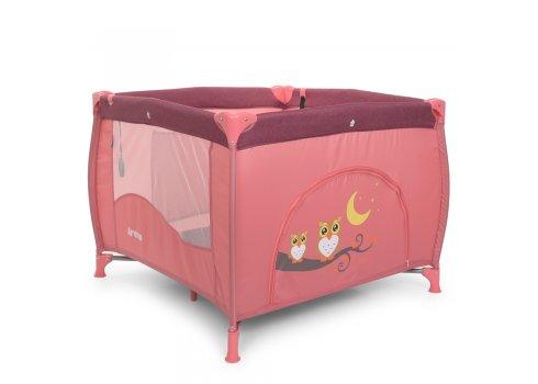 Детский манеж квадратный EL CAMINO ARENA ME 1030 Rose Len розовый