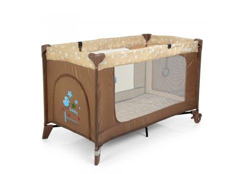 Манеж-кровать с пеленальным столиком El Camino Safe Plus ME 1054 Stars Beige бежевый
