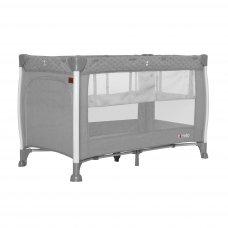 Кровать-манеж со вторым дном CARRELLO Polo+ CRL-11606 Silver Grey