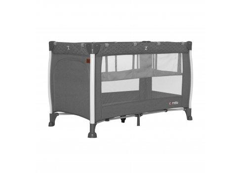 Кровать-манеж со вторым дном CARRELLO Polo+ CRL-11606 Tornado Grey