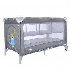 Детский манеж-кровать с вторым дном Carello Piccolo+ CRL-9201/2 Ash Grey