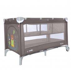 Детский манеж-кровать с вторым дном Carello Piccolo+ CRL-9201/2 Chocolate Brown