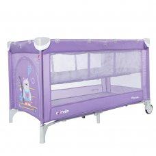 Детский манеж-кровать с вторым дном Carello Piccolo+ CRL-9201/2 Orchid Purple