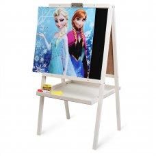 Детский двухсторонний деревянный мольберт Frozen, M 064
