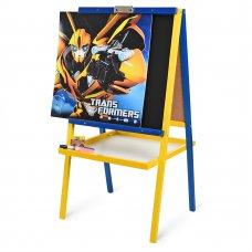 Детский двухсторонний деревянный мольберт Transformers, M 066
