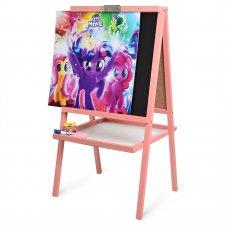 Детский двухсторонний деревянный мольберт My Little Pony, M 072