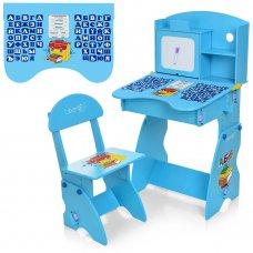 Детская парта со стульчиком Алфавит BAMBI M 0324-4 голубой