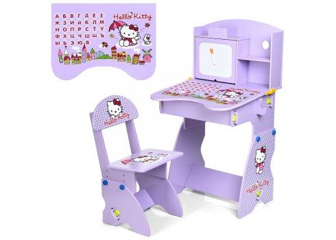 Детская парта со стульчиком Hello Kitty, M 0324-9 фиолетовый