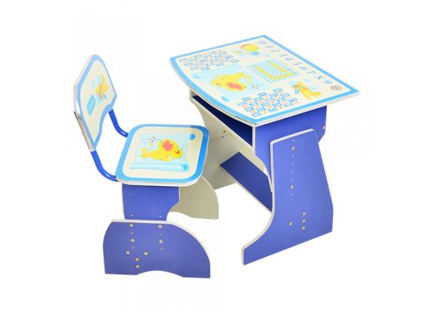 Детская парта со стульчиком Растишка BAMBI HB 2029-01-7 синий